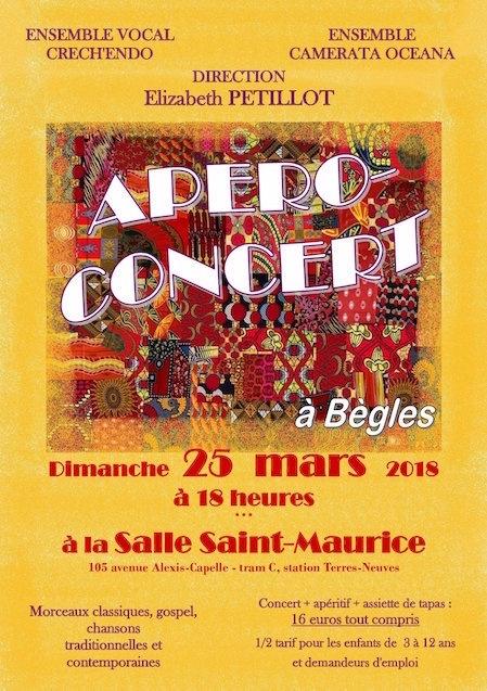 Apéro-concert du 25 mars 2018